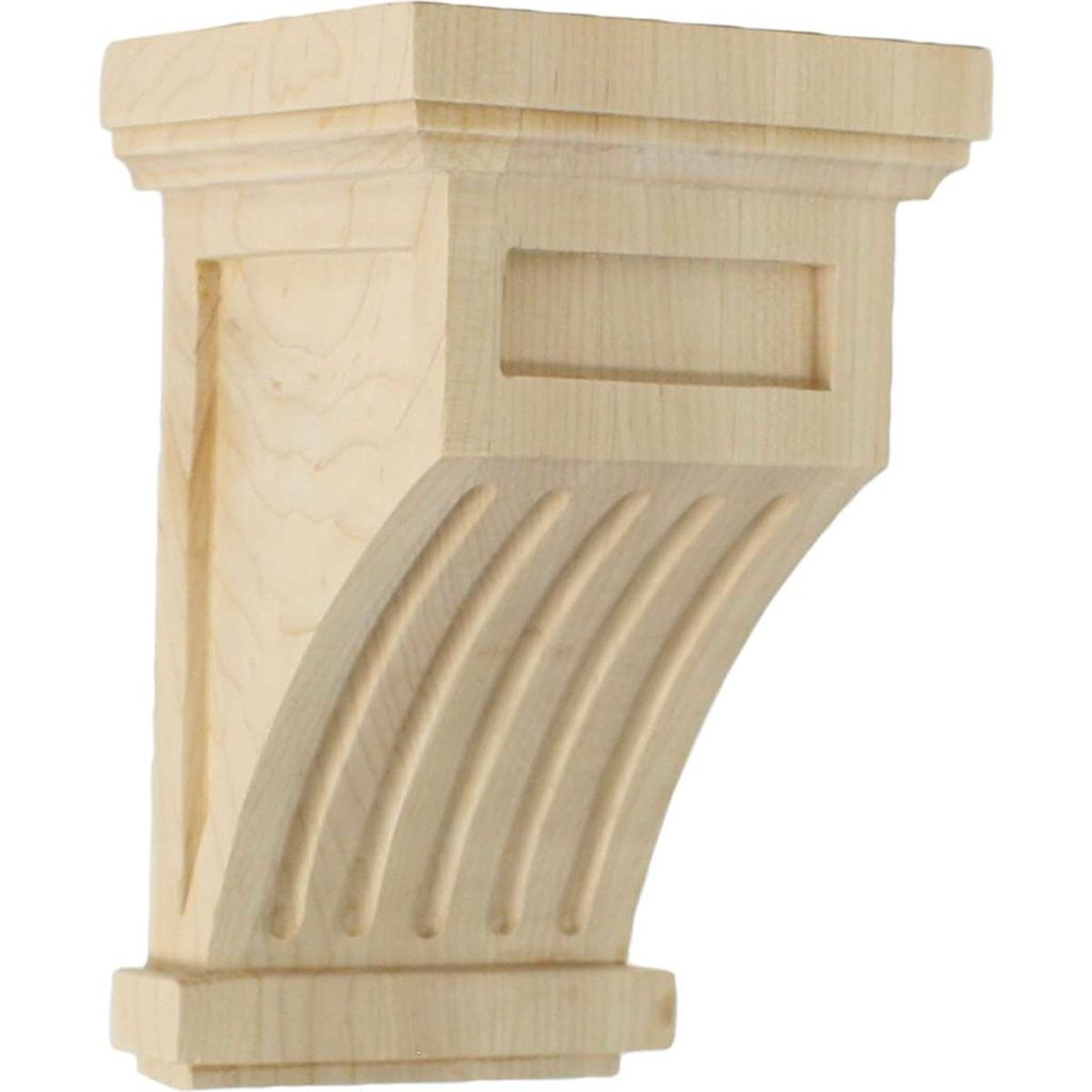 4.25 x 4.25 x 7 Fluted Mission Corbel