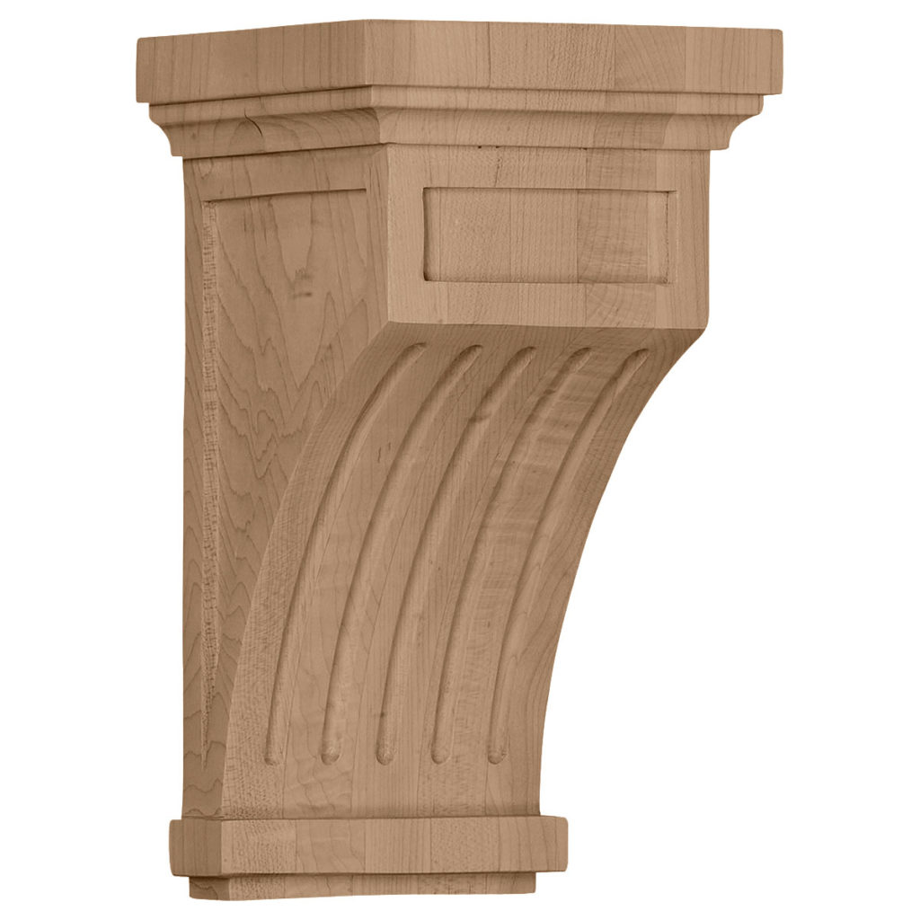 5.5 x 5.5 x 10 Fluted Mission Corbel