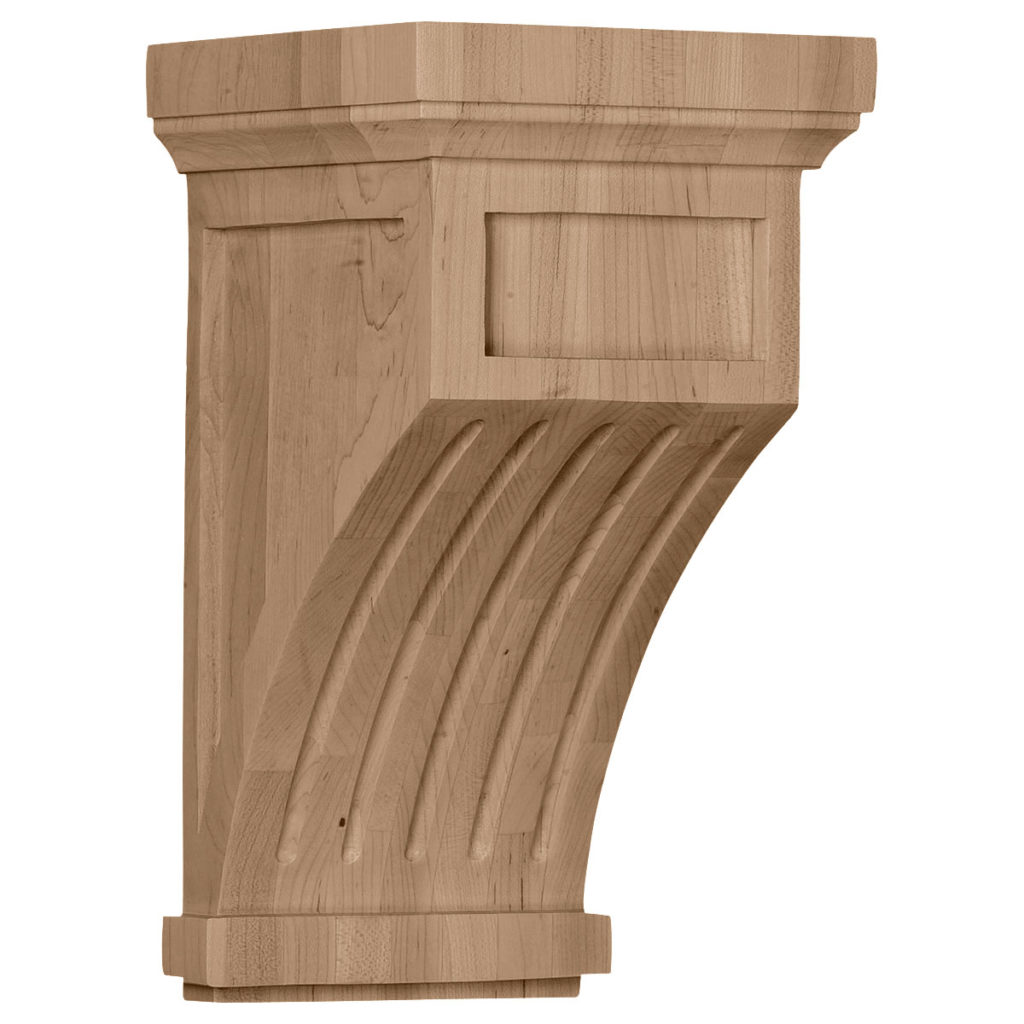 7 x 7.5 x 13 Fluted Mission Corbel