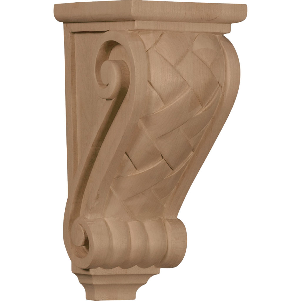 4.5 x 5 x 10 Medium Basket Weave Corbel