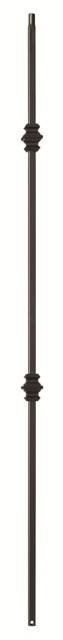 Double Knuckle Flat Black Wrought Iron Baluster (Box of 10)