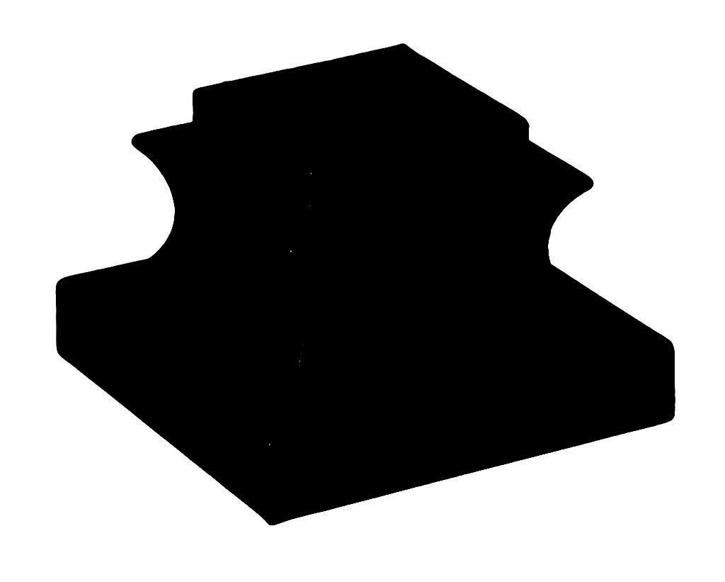 1/2″ Flat Black Wrought Iron Inner Base Shoe (Box of 50)