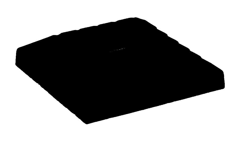 1/2″ Flat Black Wrought Iron Inner Flat Square Shoe (Box of 50)