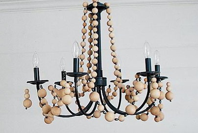 DIY Wooden bead chandelier tutorial