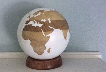 Wooden globe craft to DIY