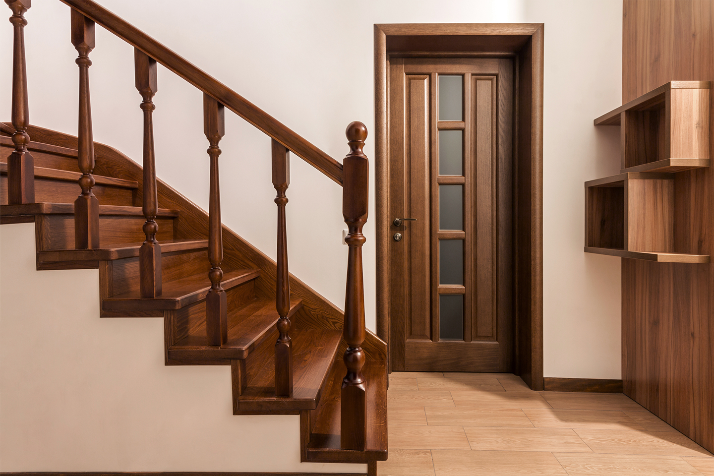 Transitional staircase style and design