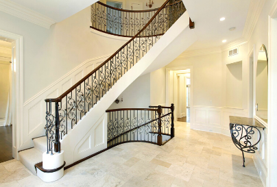 Wooden home accents for stairs
