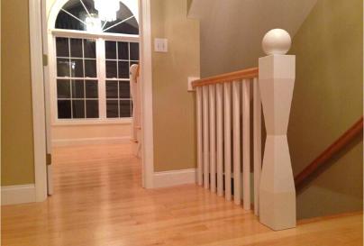 Custom wooden decor for staircase