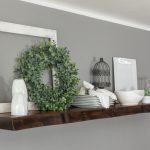 Beautiful floating shelf decoration