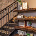 Decorative floating shelves display