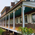 paint-grade mahogany turned porch columns
