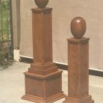 Red Oak Egg Shaped Finials for Indian Head Dressing Projects
