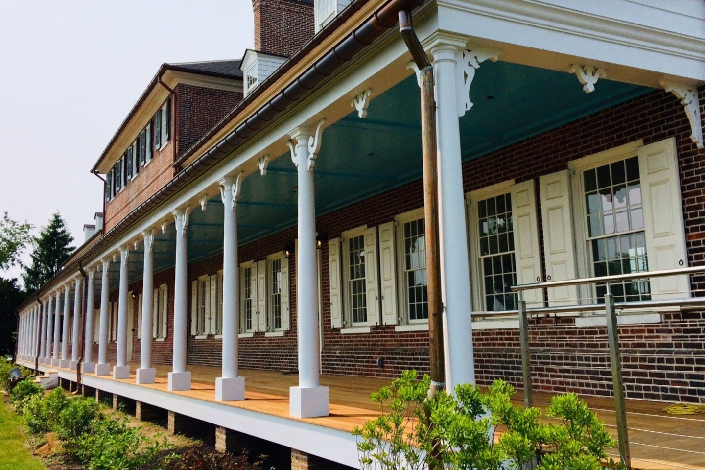 Commercial front porch columns for historic museum